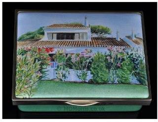 Portuguese Villa enamel box entry for Royal Miniature Society Exhibition