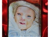 A Baby Girl Enamel Portrait Miniature by Mark D Morris