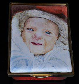 Baby Orla enamel box for the Royal Miniature Society Exhibition
