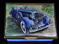 Classic Chrysler Car enamel box for Royal Miniature Society Exhibition