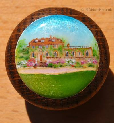 Farm House Miniature Painting and Cloisonné Enamel