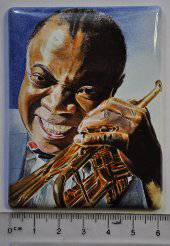 Miniature painting of Louis Armstrong (stage 6)