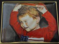 Oliver, A Toddler Portrait Miniature Enamel Painting by Mark D Morris