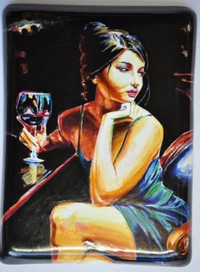 Painting Saba with a glass of red wine (part 5)
