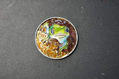 After the fourth firing of the enamel