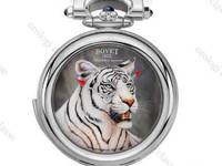 Snow tiger miniature painting by Bovet