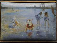 Children Paddling - Enamel Miniature Painting Reproduction by Mark D Morris & Anthony Phillips