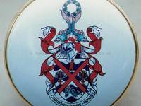 An Enamel Miniature of a Coat of Arms by Anthony Phillips