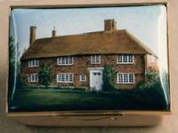 A Miniature Enamel Painting of a Country House by Anthony Phillips