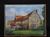 Country House - Enamel Miniature Painting by Mark D Morris
