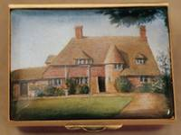An Enamel Miniature Painting of a Delightful Country House by Anthony Phillips