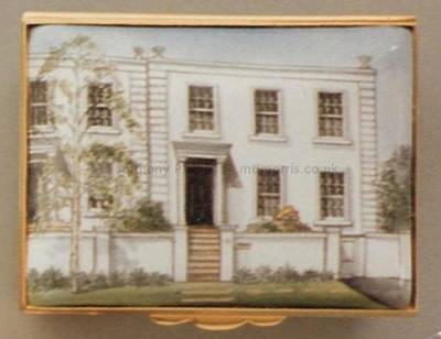 An Enamel Miniature Painting of a Flat by Anthony Phillips