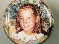 An Enamel Miniature Portrait of a Girl by Anthony Phillips