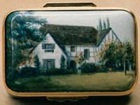 A Miniature Painting, in Enamel, of a County House by Anthony Phillips