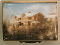 A Miniature Painting, in Enamel, of a House and surroundings by Anthony Phillips