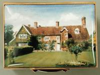 A Miniature Painting of a House and the Back Garden by Anthony Phillips