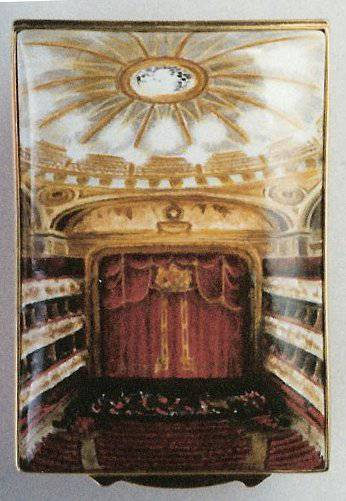 Inside the Royal Operal House - Commissioned Miniature Painting Enamel Box
