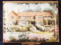 A Miniature Enamel Painting a House with a Nice Garden by Anthony Phillips