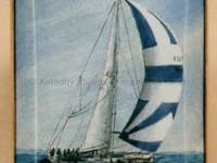 A Miniature Enamel Painting of a Sailing Boat by Anthony Phillips