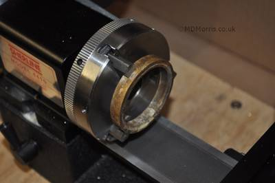 Secure the ring in the lathe