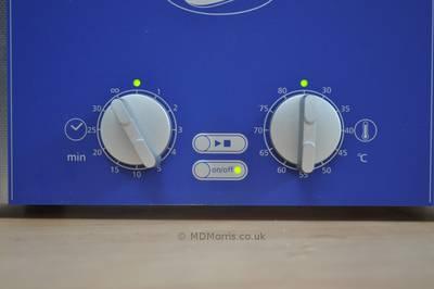sonic cleaner settings