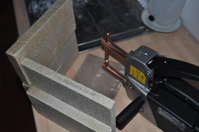 spot welder set-up