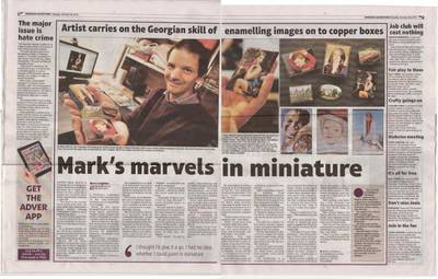 Swindon Advertiser's article about my selection for the Exhibition