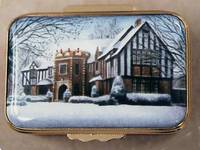 An Enamel Miniature Painting of a Tudor Style House by Anthony Phillips