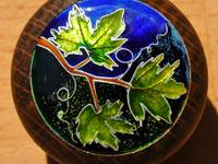 Vine Leaves Cloisonné Enamel Doorknob by Mark Morris