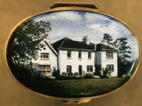 An Enamel Miniature Painting of a White House by Anthony Phillips