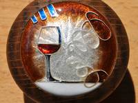 Cloisonné Wine Glass Enamel by Mark Morris