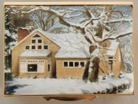 An Enamel Miniature Painting of a House During Winter by Anthony Phillips