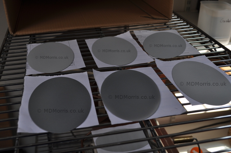 Enamelling the Elliptical Steel Plaques