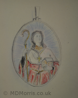 Initial designs for the chorister medals